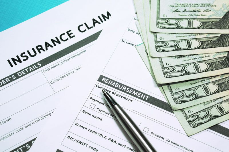 insurance claim forms and money